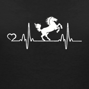 Horse - Heartbeat - Women's V-Neck T-Shirt
