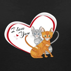 Kittens in love i love you - Women's V-Neck T-Shirt