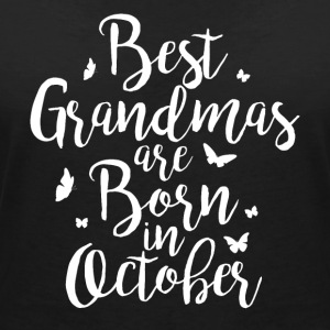 Best Aunties are born in October - Frauen T-Shirt mit V-Ausschnitt