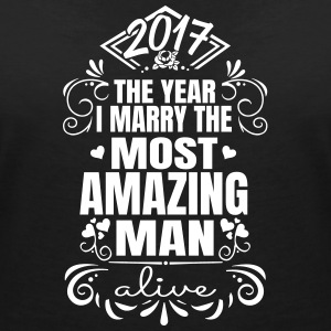 Wedding / Engagement 2017 Best Man - Vrouwen T-shirt met V-hals