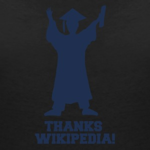 High School / Graduation: Thanks Wiki.pedia! - Vrouwen T-shirt met V-hals