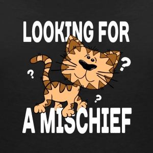 Cartoon cat looking for a mischief - Women's V-Neck T-Shirt