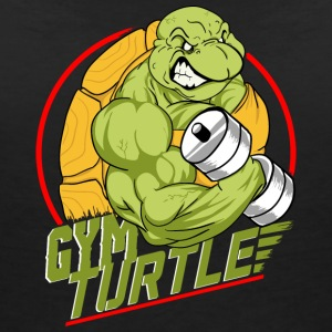 Gym Turtle Gym Design - T-shirt med v-ringning dam