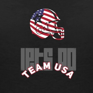 usa le football touch down drapeau Amérique du sport defenes - T-shirt col V Femme