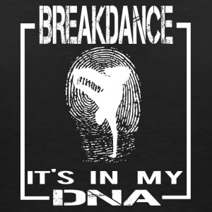 BREAKDANCE DNA ENGELSKA - T-shirt med v-ringning dam