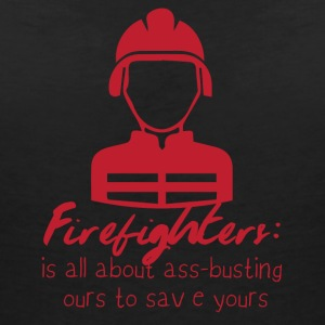 Brandweer: Fire Fighters - is alles over ass-busting - Vrouwen T-shirt met V-hals