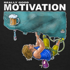 Riktigt bra motivation - T-shirt med v-ringning dam
