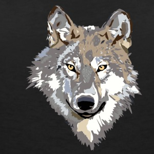 The wolf - Women's V-Neck T-Shirt