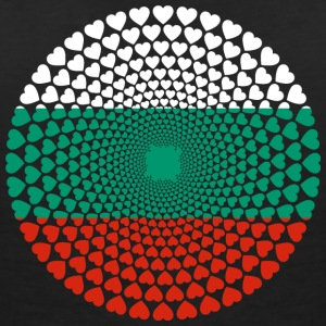 Bulgaria Bulgaria България Love HEART Mandala - Women's V-Neck T-Shirt