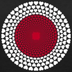 Japan 日本 Nihon Nippon Love HEART Mandala - Women's V-Neck T-Shirt