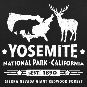 Yosemite National Park California Bear Redwood - Vrouwen T-shirt met V-hals