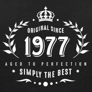 original since 1977 simply the best 40th birthday - Frauen T-Shirt mit V-Ausschnitt