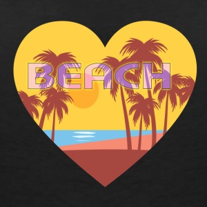 beach please - Women's V-Neck T-Shirt