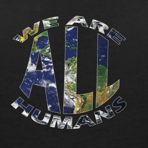 we are all humans weltkugel - Frauen T-Shirt mit V-Ausschnitt