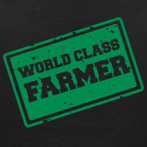 Farmer / bonde / Farmer: World Class Farmer - T-skjorte med V-utsnitt for kvinner