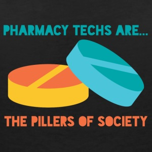 Pharmazie / Apotheker: Pharmacy Techs Are... The - Frauen T-Shirt mit V-Ausschnitt
