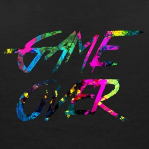 rainbow Game over - T-shirt col V Femme