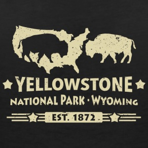 Buffalo Bisons Buffalo Yellowstone National Park USA - T-shirt med v-ringning dam