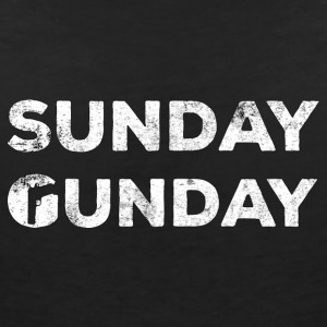 Military / Soldiers: Sunday Gunday - Women's V-Neck T-Shirt