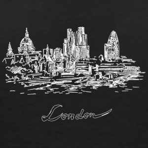 London City - Storbritannien - T-shirt med v-ringning dam