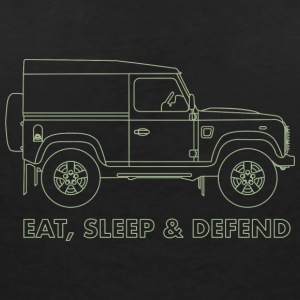 Eat Sleep Defend - Women's V-Neck T-Shirt