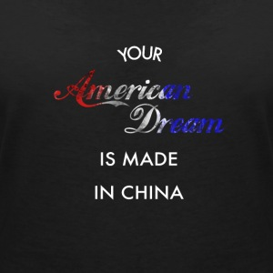 American Dream made in China - Maglietta da donna scollo a V