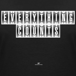 Everything Counts wit - Vrouwen T-shirt met V-hals