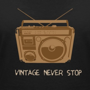 Vintage - Music - Women's V-Neck T-Shirt