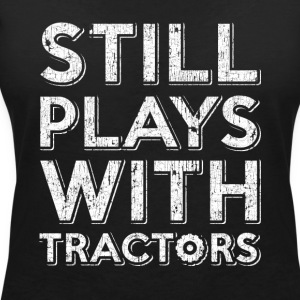 still playing with tractors. Order here. - Women's V-Neck T-Shirt