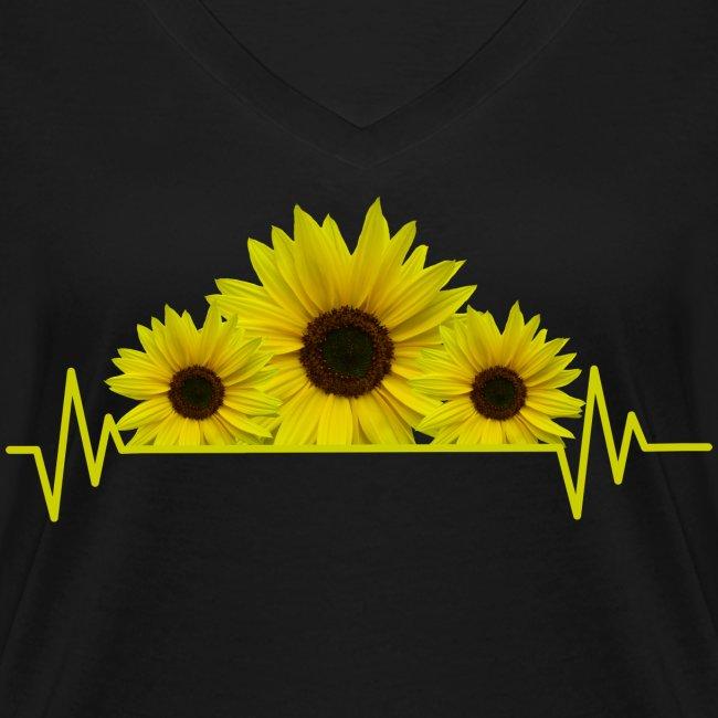 Sonnenblumen Herzschlag Sonnenblume Blumen Blüten