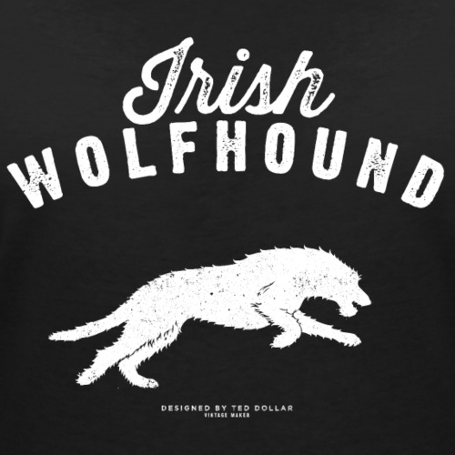 white Irish Wolfhound - T-shirt bio col V Stanley & Stella Femme