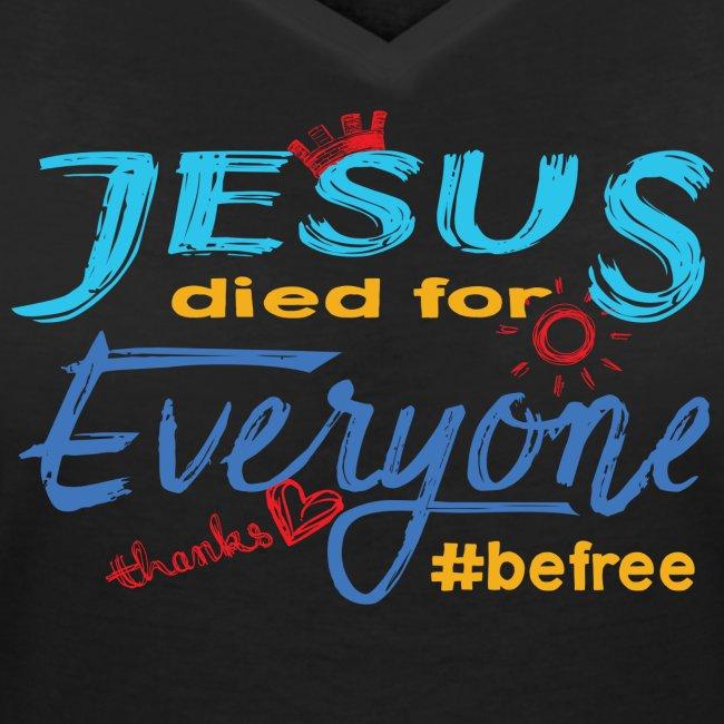 Jesus died for Everyone blau