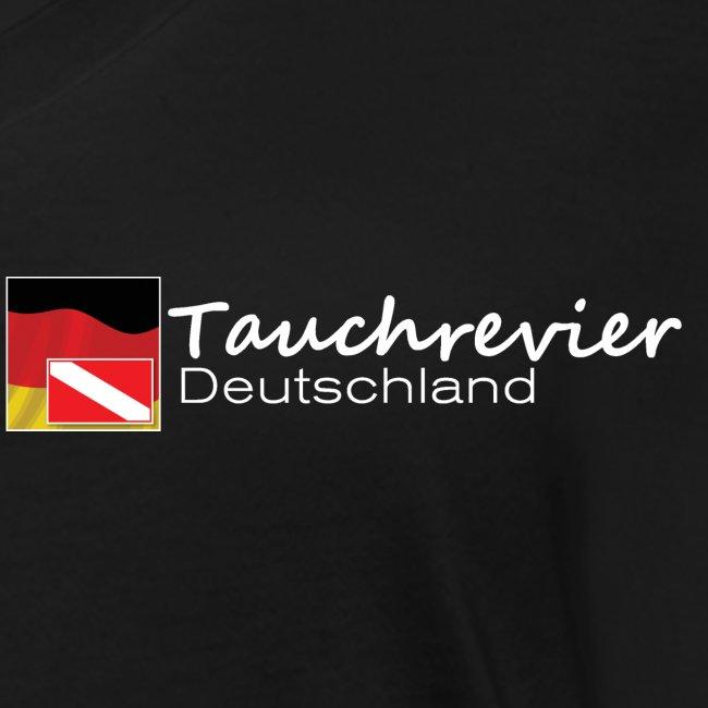 Tauchrevier Deutschland Logo classic weiß