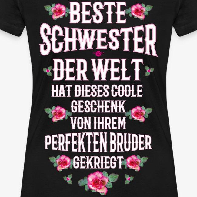 Schwester Tochter Tshirt Geschenk Geburtstag lustige Sprüche Geschwister Frau