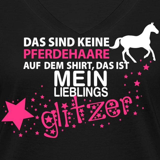 Vorschau: Glitzer Pferd - Frauen Bio-T-Shirt mit V-Ausschnitt von Stanley & Stella