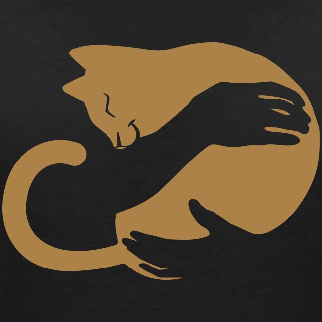 Vorschau: cat hug - Frauen Bio-T-Shirt mit V-Ausschnitt von Stanley & Stella