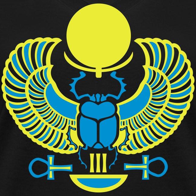 Geflügelter Skarabäus I Hieroglyphen