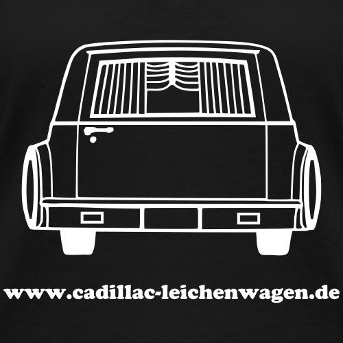 Cadillac Heckansicht www - Frauen Bio-T-Shirt mit V-Ausschnitt von Stanley & Stella