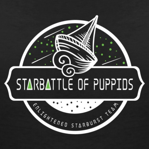 Starbattle or Puppids - Women's Organic V-Neck T-Shirt by Stanley & Stella