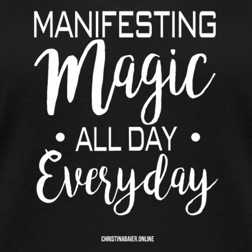 Manifesting Magic Black Edition - Frauen Bio-T-Shirt mit V-Ausschnitt von Stanley & Stella