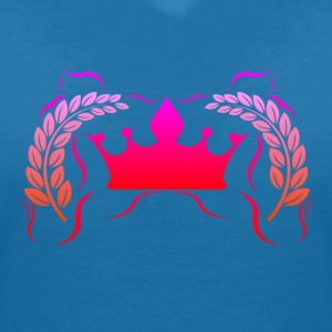Royal Gamer Pink by JuiceMan Benji - Women's V-Neck T-Shirt