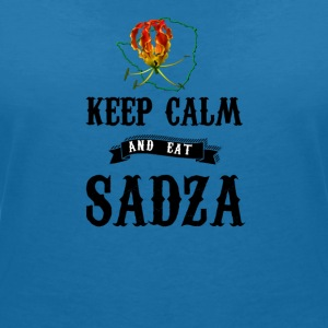 Rhodesia Keep Calm and eat Sadza - Women's V-Neck T-Shirt