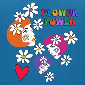 FLOWER POWER - Women's V-Neck T-Shirt