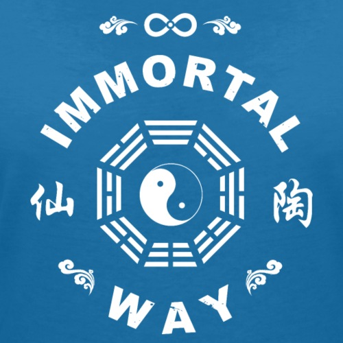 Immortal Way Yinyang Bagua Trigram - Women's Organic V-Neck T-Shirt by Stanley & Stella