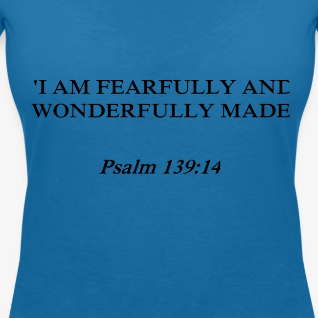 Psalm 139:14 black lettered