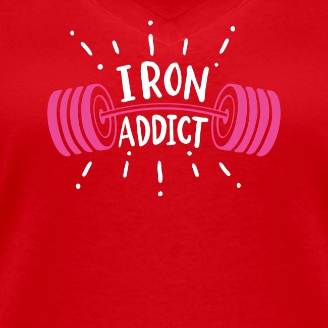 VSK Lustiges GYM Shirt Iron Addict
