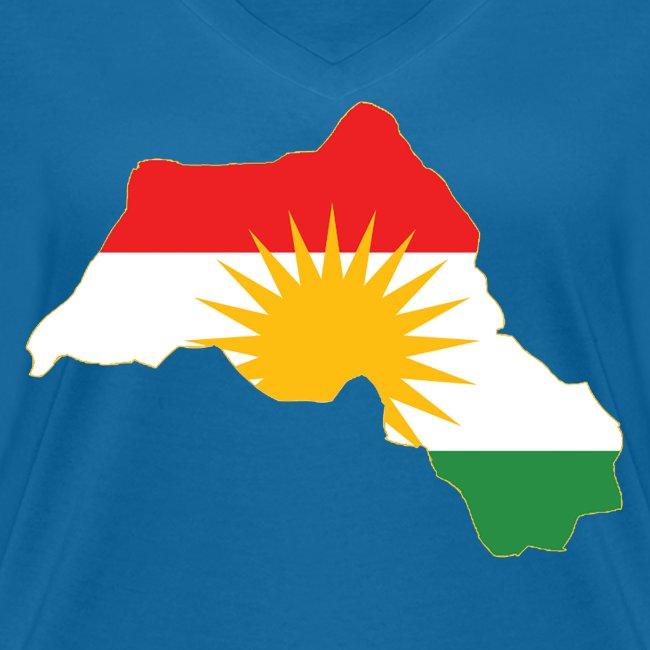 Kurdistan Flag Map