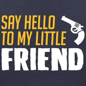 My little friend - Guns - Women's V-Neck T-Shirt