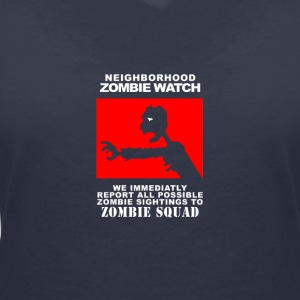Neighbourhood Zombie Squad - T-shirt med v-ringning dam