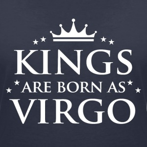Kings are born as Virgo - Women's V-Neck T-Shirt